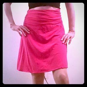 J. Crew cotton hot pink swingy mini skirt